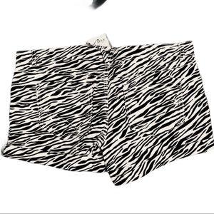 SHORTS Miley Cryus Zebra cuffed Shorts 11 Juniors